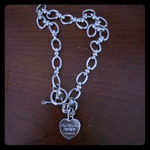 Juicy couture heart chocker silver